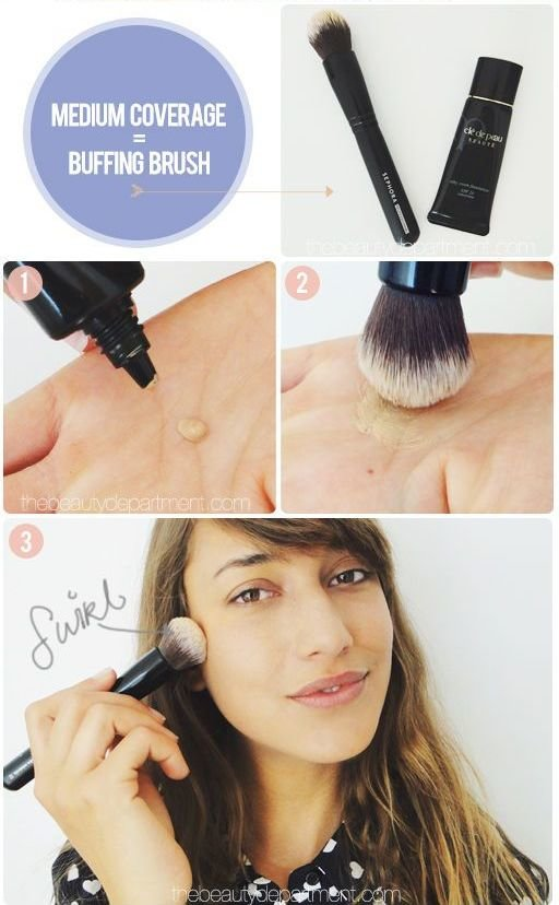 buffing brush, how to use
