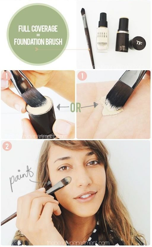 flat foundation brush, how to use