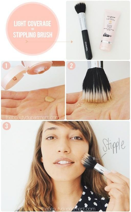 stippling brush, how to use