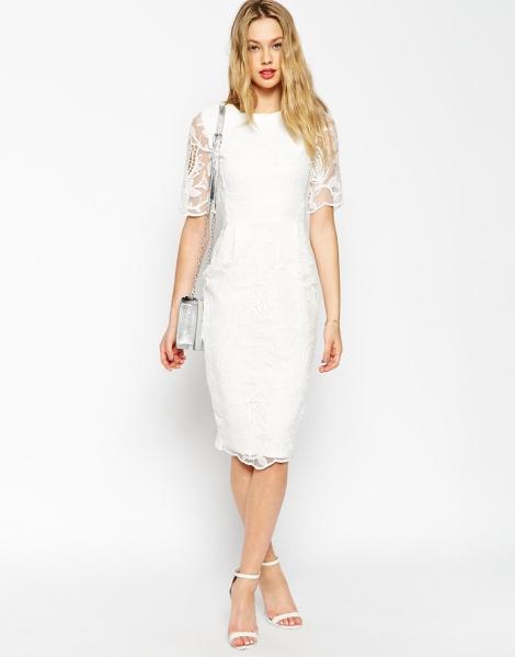 white lace graduation dress 2015