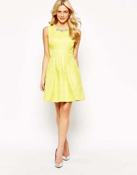 yellow graduation dress 2015