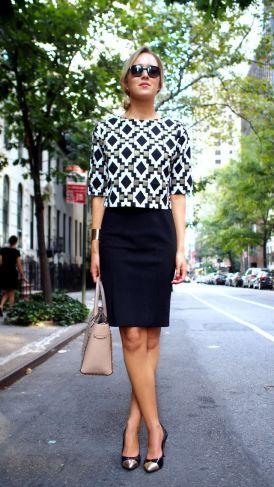 Workwear Ideas: Monochrome pencil skirt   Life of Lala   https://lifeoflala.wordpress.com/