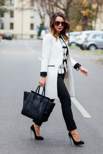 Workwear Ideas: Black trousers and White Coat   Life of Lala   https://lifeoflala.wordpress.com/