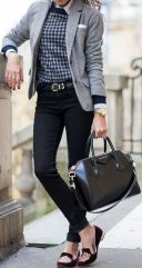 Workwear Ideas: Grey Blazer, Flat shoes   Life of Lala   https://lifeoflala.wordpress.com/