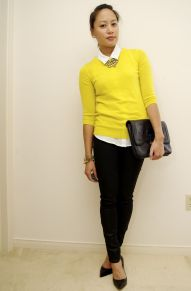 Workwear Ideas: Colourful Outfits, Yellow jumper | Life of Lala | https://lifeoflala.wordpress.com/
